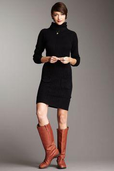 So classic. Cowl Neck Sweater Dress  $26