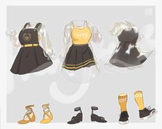 Manga Clothes, Drawing Anime Clothes, Doll Clothes, Cute Art Styles, Cartoon Art Styles, Fashion Design Drawings, Fashion Sketches, Drawing Fashion, Character Outfits