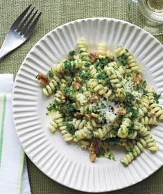 Pasta With Kale and Walnut Pesto by realsimple #Pasta #Kale #Walnut
