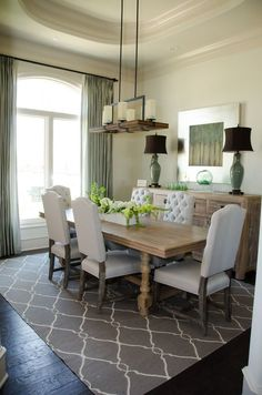 Overstuffed Chair Dining Room Transitional With Curtains Custom Drapes Drapery Extra Long