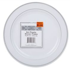 you can get these plastic plates that look nice 8 in a pack for $1  sc 1 st  Pinterest & Bulk Clear Plastic Plates 5¾