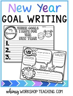 New Years Resolutions And Goals Freebie 3rd Grade Ideas