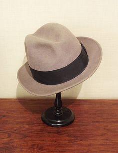 Vintage Felt Fedora Hat Bailey Mens Tan 6 7/8 by MyPrettyLittleHat