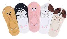 ♡柴犬ローファーソックス♡シベリアンハスキー ♡Shiba inu♡Siberian husky loafer socks♡qoo10.jp ☆japan☆楽天★intype socks