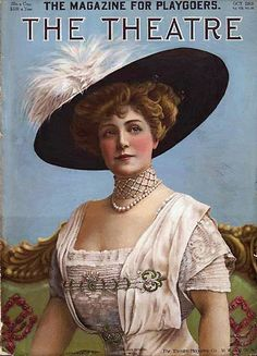 "Lillian Russell ~ Gilded Age actress, on the cover of ""The Theater"" magazine. ~~ {cwl}"