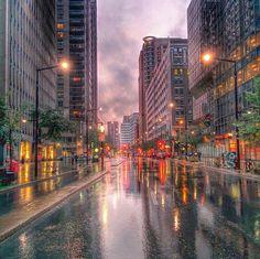 Montréal sous la pluie