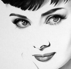 Minimal pencil portraits of female celebrities [19 pictures]