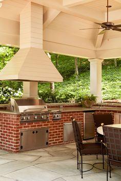 Wonderful outside kitchen - T. Duffy & Associates | Atlanta, GA | Interior Design