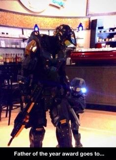 Master Chief and Master Chief Jr. This makes me want to have children someday.
