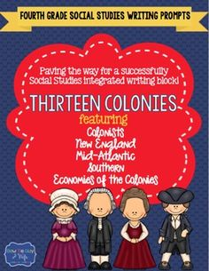 13 colonies writing activity for 3rd