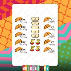 Taco Tuesday Planner Stickers for your Horizontal or Vertical Erin Condren Life Planner, Happy Planner, or any daily planner! by MoogleyandMe on Etsy