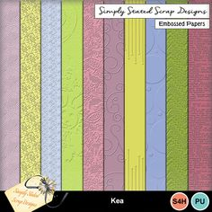 Pack of 10 Embossed Papers for the Kea kit. Personal & Scrap for Hire use only. Full size. 300dpi. 12 x 12. #mymemories #mymemoriessuite #scrapbooking #digitalscrapbooking #digiscrapbooking #digitalscrapbookkits #kits #papers