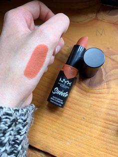 """Suede Matte Lipstick by NYX in """"Peach Don't Kill my vibe"""" Best Lipstick Color, Peach Lipstick, Lipstick Colors, Lip Colors, Lipstick Shades, Drugstore Lipstick, Best Drugstore Makeup, Best Lipsticks, Matte Lipsticks"""