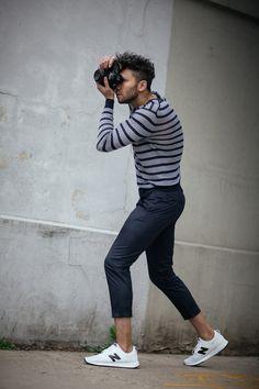 Nice style. Talun Zeitoun wearing Perry Ellis Spring 2017