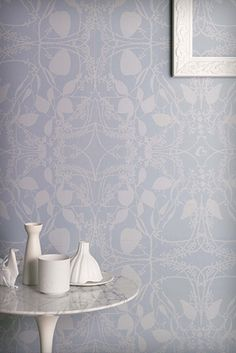 Catherine Martin 'Eucalyptus' wallpaper in Blue for Porters Paints