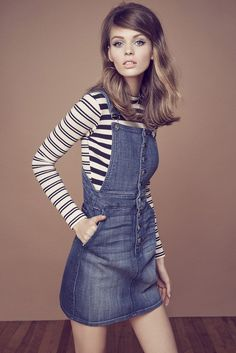 Miranda Kerr Reveals 5 Ways to Wear Denim Like an Icon via @WhoWhatWear 60s And 70s Fashion, Retro Fashion, Vintage Fashion, Womens Fashion, Ski Fashion, Looks Vintage, Passion For Fashion, Cool Outfits, Stylish Outfits