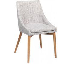 Madison Spisebordsstol - grå - med olierede ege ben