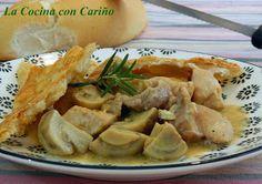 La Cocina con Cariño: PASTEL BRITÁNICO DE POLLO CON HOJALDRE Tapas, Potato Salad, Potatoes, Meat, Chicken, Ethnic Recipes, Food, Meatloaf, Soy Sauce