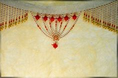 01TA-10805 Laced red and silver beads Toran