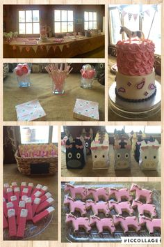 Pink and gold girls horse pony birthday party.
