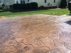 EdgeWise Stamped Concrete Patio Random Stone Stamped Concrete, Concrete Patio, Cement, Landscape Curbing, Landscape Edging, Flower Beds, Curb Appeal, Paths, Sidewalk