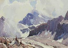 Alfred Crocker Leighton watercolor