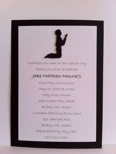 Boy first communion invitation