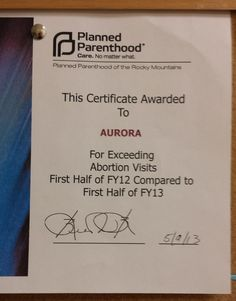 Planned Parenthood Confirms it Gave Clinic Award for Killing More Babies in Abortions http://www.lifenews.com/2014/07/18/planned-parenthood-confirms-it-gave-clinic-award-for-killing-more-babies-in-abortions/