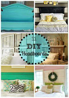 BD Design: 11 DIY Headboards #headboards #bedroomideas