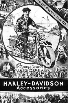 Vintage Motorcycles 662732901385192529 - Vintage Harley Davidson Ad Plus Source by Logo Harley Davidson, Harley Davidson Vintage, Harley Davidson Motorcycles, Motorcycle Posters, Motorcycle Art, Bike Art, Image Moto, Etiquette Vintage, Retro