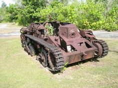 WWII - The Pacific: Japanese type 95 HA-GO tank, Pelileu.