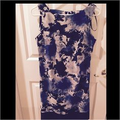 Sleeveless Sheath Dress Sleeveless floral sheath dress. Worn once. AB Studio Dresses
