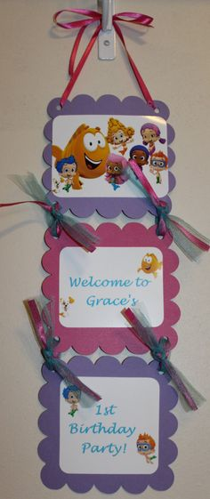 Bubble Guppies Birthday Party Door Sign on Etsy, $12.00