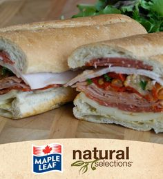 Muffaletta Sandwich #NaturalSelections @Maple Woods Leaf® Just saw this and had to repin it for @Taryn Horr