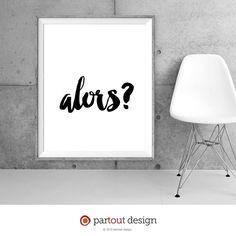 Printable Art alors Minimalist art Typographic by partoutdesign