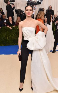 Emmy Rossum from 2017 Met Gala..  Gorgeous!!! Change the color & add bridal embellishments for that ultimate bridal look.