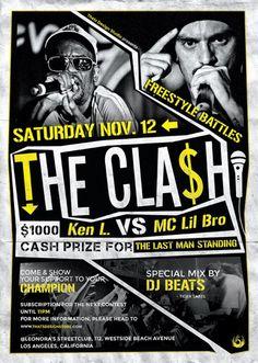 Freestyle Rap Battle Flyer Template