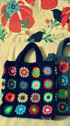 56 Awesome Granny Square Crochet Bag Pattern Ideas Part 42 Bag Sewing Pattern, Bag Pattern Free, Bag Patterns To Sew, Knitting Patterns, Crochet Patterns, Pattern Ideas, Crochet Bag Tutorials, Crochet Projects, Tutorial Crochet