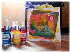 Mini album Scrapbooking con tintas IZInk http://www.creativatemanualidades.es/blog/minialbum-smile-con-tintas-acrilicas-izink-aladine/