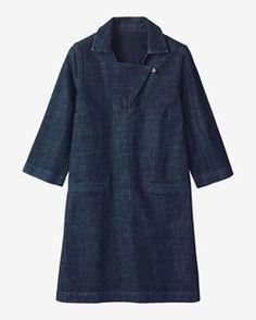 ARTIST DENIM TUNIC DRESS by TOAST