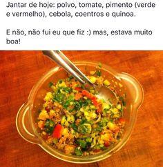 Salada de polvo saudável