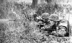 Soldiers of the HJ Division in Normandy