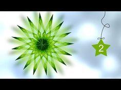 1 | Fensterstern aus Transparentpapier falten - YouTube Origami Ball, Origami Paper Folding, Origami And Kirigami, Fabric Origami, Origami Stars, Christmas Deco, Handmade Christmas, Christmas Crafts, Diy Paper