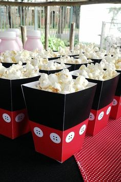Mickey Mouse Popcorn Boxes: