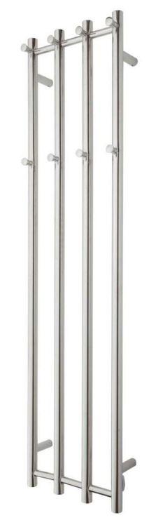 TVS Eldo 4 V Håndkletørker f/El-tilkobling 1400 x 345 mm, Polert Rustfritt Stål