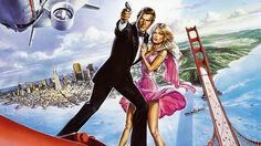 Welcome back to Bond Night! This month we're climbing the Golden Gate Bridge to get the best vantage point for examining Roger Moore's final James Bond film, A View to A Kill Licence To Kill, James Bond Movies, Roger Moore, Film Base, Netflix Movies, For Stars, Pop Culture, Old Things, Animation