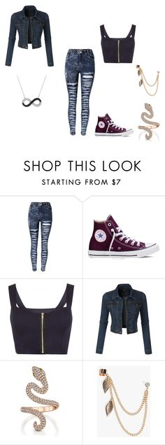"""""""Untitled #19"""" by brie-sadler on Polyvore featuring Converse, WearAll, LE3NO and Boohoo"""