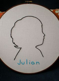 embroidered silhouette