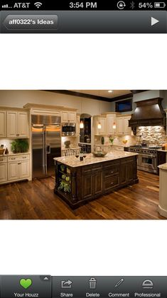 This is what I want my kitchen cabinets and countertops to be like except I want a darker counter top everywhere except the island :)