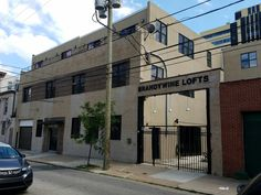 The Brandywine Lofts Condominium Complex on Brandywine Street between 15th Street and 16th Street in downtown Philadelphia. Prior to these lofts, the city's School of Rock was located on the property.